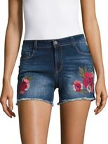 Kensie jeans Embroidered Cut-off Jean Shorts