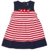 Florence Eiseman Toddler's & Little Girl's Floral Applique Striped Dress