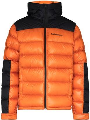 Peak Performance Panelled Hooded Padded Jacket