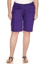 ST. JOHN'S BAY St. John's Bay Twill Bermuda Shorts - Plus