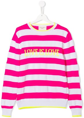 Alberta Ferretti Kids TEEN striped long-sleeved T-shirt