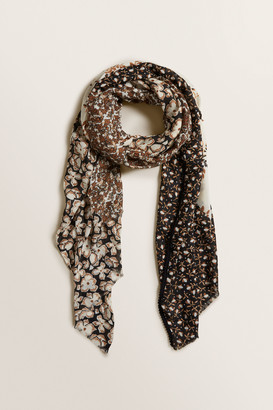 Seed Heritage Patchwork Floral Scarf