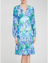Gina Bacconi Abstract Print Dress, Blue/Green