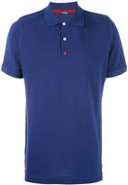 Kiton contrast buttons polo shirt