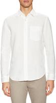Jack Spade Ferry Garment Dyed Trapunto Linen Sportshirt