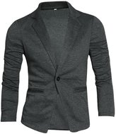 SODIAL(R)en Nocth Lapel Long Sleeve Button Closure Casual Blazers
