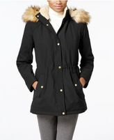 Jones New York Faux-Fur-Trim Anorak