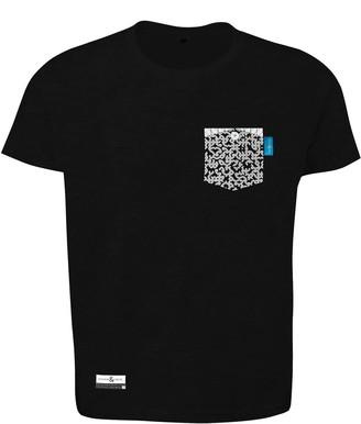Anchor & Crew Noir Black Digit Print Organic Cotton T-Shirt Mens