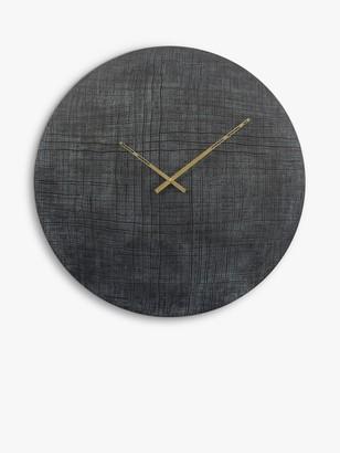 Libra Textured Wall Clock, 76cm, Black/Green