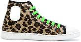 Marc Jacobs leopard-print velvet sneakers - men - Leather/Velvet/rubber - 39