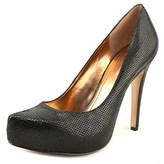 BCBGeneration Parade Women Open Toe Suede Black Platform Heel.