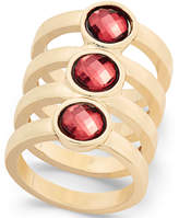 INC International Concepts Gold-Tone Red Crystal Stacked Ring, Created for Macy's
