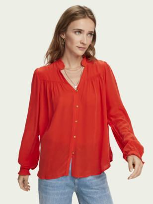 Scotch & Soda Feminine long sleeve pleated shirt | Women
