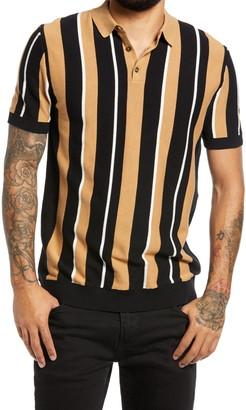 Topman Cam Stripe Polo Shirt