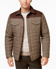 tasso elba quilted colorblocked jacket only at macys