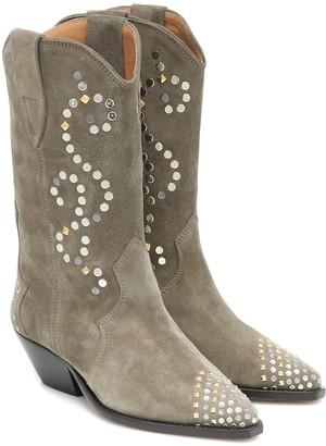 Isabel Marant Duerto embellished suede boots