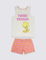 Marks and Spencer Tweety Short Pyjamas (6-16 Years)