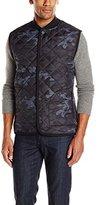 DKNY Men's Camo Quilt and Fleece Mix Knit Vest