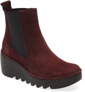 Fly London Long Bagu Wedge Chelsea Boot