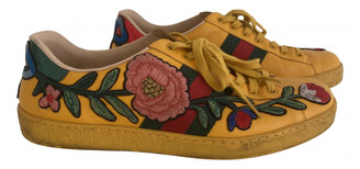 Gucci Ace Yellow Leather Trainers