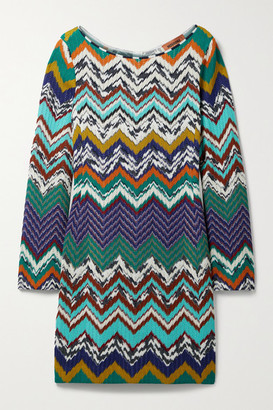 Missoni Crochet-knit Cotton-blend Mini Dress - Orange