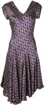 Josie Natori jacquard swing dress