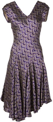 Josie Natori Jacquard Swing Dress