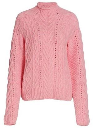 Rag & Bone Ariel Mockneck Cabled Sweater
