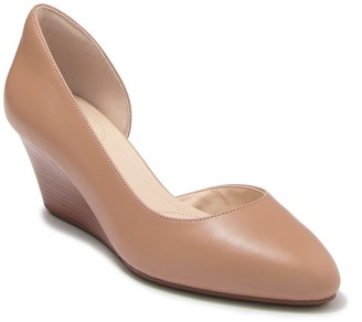 Cole Haan Edith d'Orsay Leather Wedge