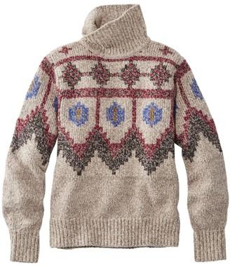 L.L. Bean Women's Signature Ragg Wool Sweater, Pullover Fair Isle