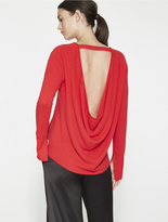 Halston Cowl Back Cashmere Sweater