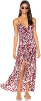 Vix Paula Hermanny Bali Elma Long Dress in Burgundy. - size L (also in M,S)