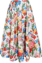 Emilia Wickstead Eleanor pleated floral-print jacquard midi skirt