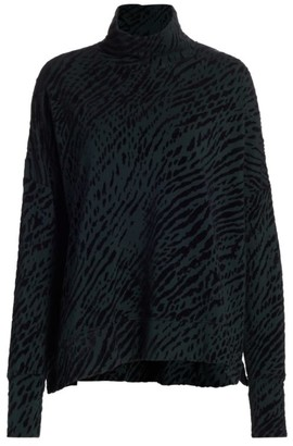 Majestic Filatures French Terry Novelty Print Turtleneck
