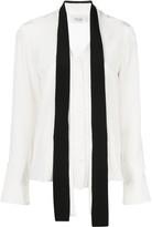 Arias tie-neck blouse