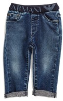 Armani Junior Infant Boy's Elastic Waist Cuffed Jeans