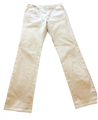 Chanel White Cotton Jeans