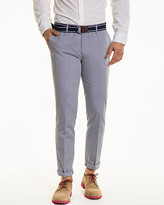 Le Château Two-Tone Cotton Blend Belted Pant