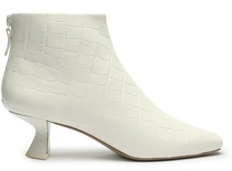 Mercedes Castillo Valerie Croc-Embossed Leather Ankle Boots