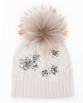 Juicy Couture Embellished Chunky Cable Beanie
