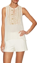 Love Sam Women's Helga Embroidered Sleeveless Top