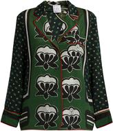 Stella Jean Zuccherata graphic-print silk blouse