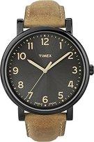 Timex Men's Originals T2N677 Brown Leather Leather Quartz Watch