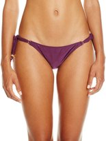 Vix Women's Solid Long Tie Side Full Bikini Bottom