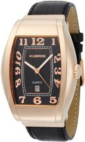 K & Bros Men's 9424-4 Steel Bold Watch