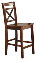 Acme Tartys Counter Height Dining Chair (Set of 2) - Cherry