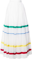 Maison Rabih Kayrouz stripe panel full skirt - women - Silk/Cotton - 36