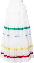 Maison Rabih Kayrouz stripe panel full skirt - women - Silk/Cotton - 38