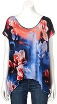 JLO by Jennifer Lopez Women's Mixed-Media Tee