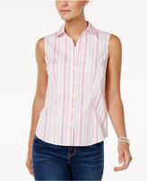 Charter Club Sleeveless Print Shirt, Only at Macy's